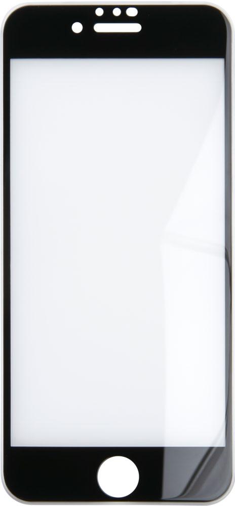 Стекло защитное RedLine iPhone 8/7/6 3D Silicone Frame черная рамка + пленка на заднюю панель фото