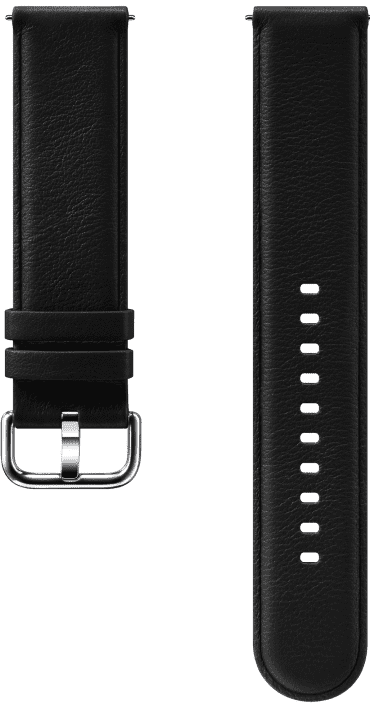 Ремешок для умных часов Samsung Galaxy Watch Active ET-SLR82M кожаный Black фото