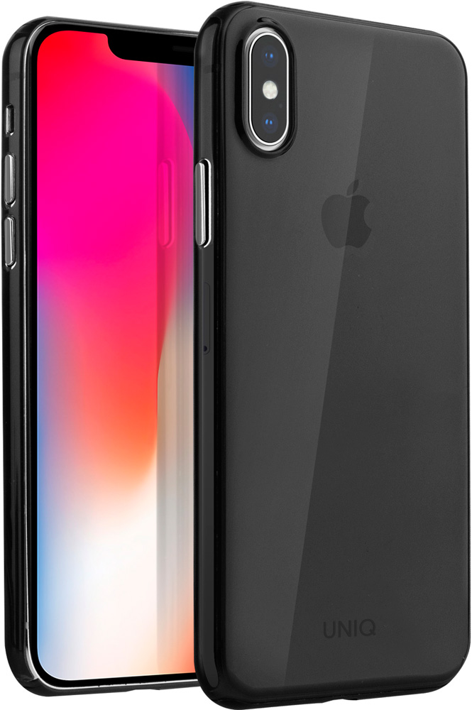 Клип-кейс Uniq Apple iPhone XS Max тонкий пластик Black клип кейс guess silicone для apple iphone xs max черный