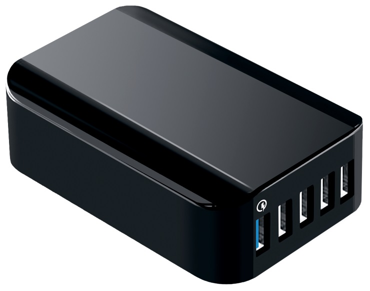 СЗУ MediaGadget HPS-551Q 5USB A с поддержкой QC универсальное Black фото