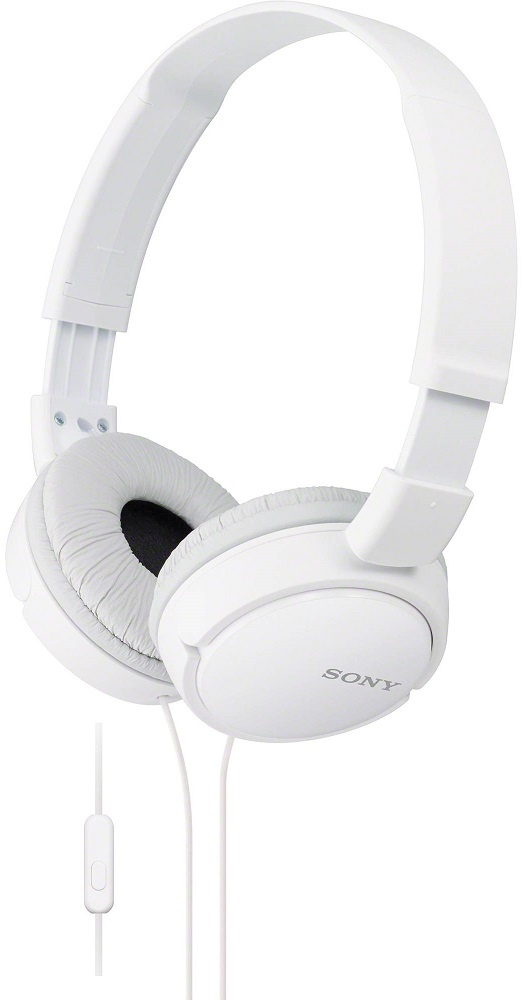 Наушники с микрофоном Sony MDR-ZX110APW White наушники sony mdr zx110ap white