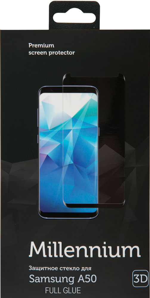 Стекло защитное RedLine Millennium Samsung Galaxy A50 3D Full Glue черная рамка фото