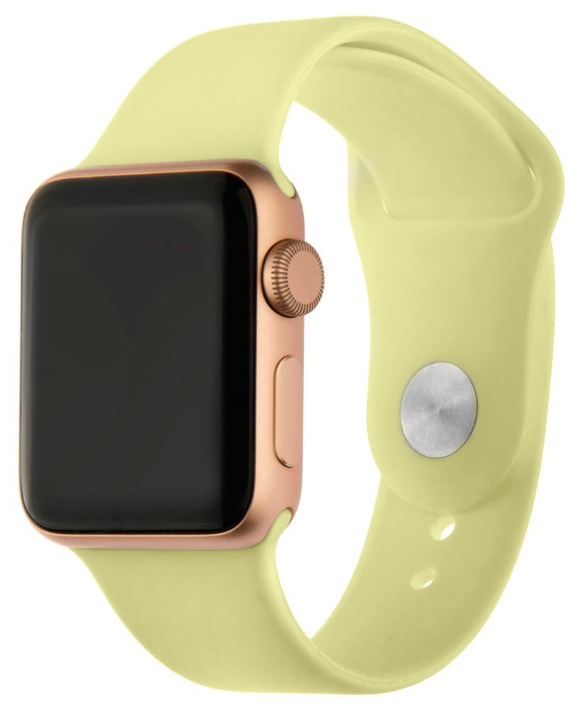 Ремешок для умных часов InterStep Sport Apple Watch 38/40мм силиконовый Yellow стоимость