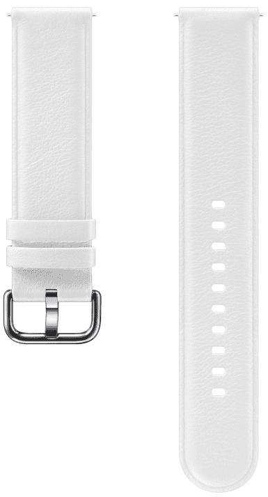 Ремешок для умных часов Samsung Galaxy Watch Active ET-SLR82M кожаный White