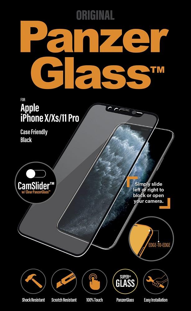 Стекло защитное PanzerGlass iPhone 11 Pro CamSlider черная рамка фото