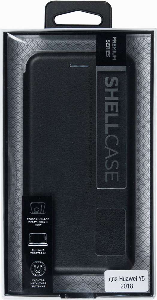 Чехол-книжка Smarterra ShellCase Huawei Y5 2018 Black чехол книжка vili shellcase для huawei p20 pro black