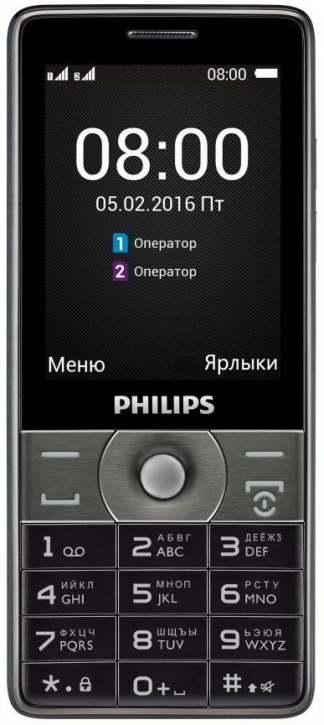 Мобильный телефон Philips Xenium E570 Black philips xenium v526 navy