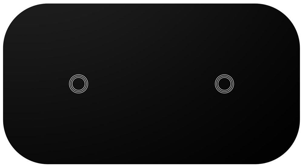 Беспроводное зарядное устройство LYAMBDA для двух телефонов LNT8-BK Black
