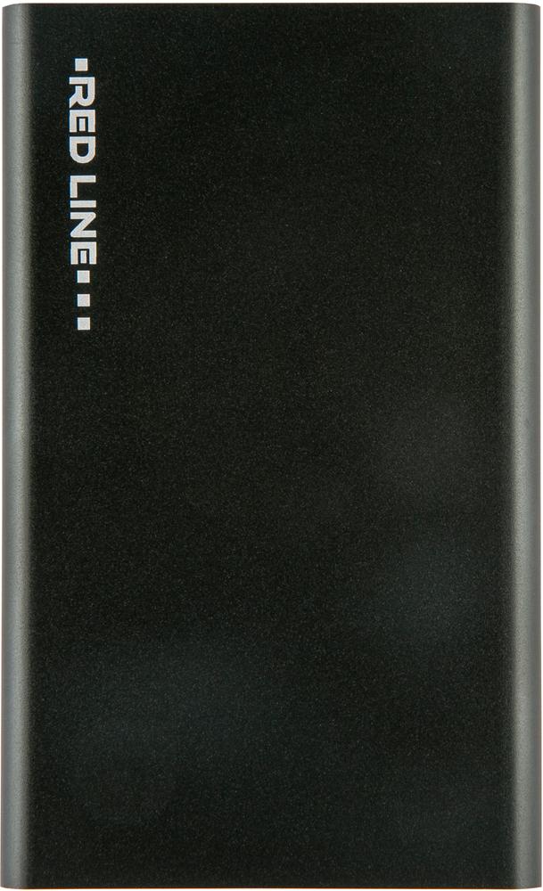 Внешний аккумулятор RedLine J03 3000 mAh металл Black аккумулятор внешний auzer b 3000 mah