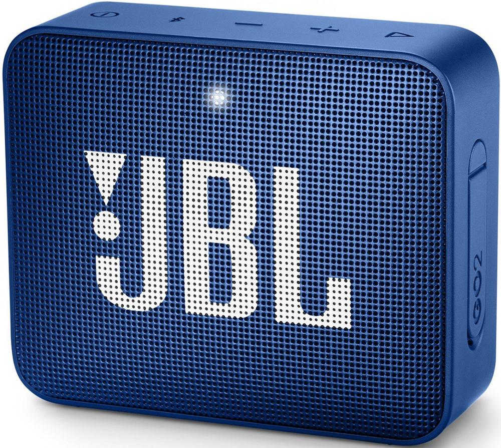 Портативная акустическая система JBL GO 2 Blue аккумулятор momax ipower go mini 8400mah ip36d blue
