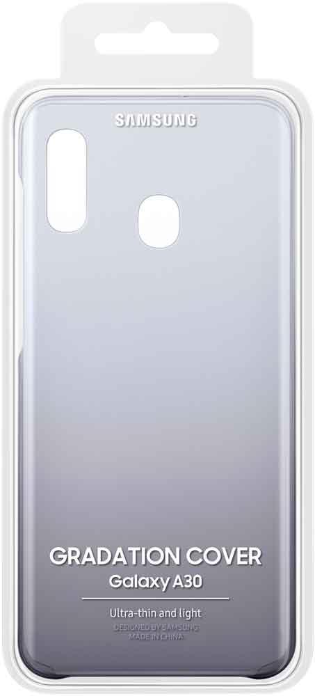 Клип-кейс Samsung Galaxy A30 градиент Black EF-AA305CBEGRU цена