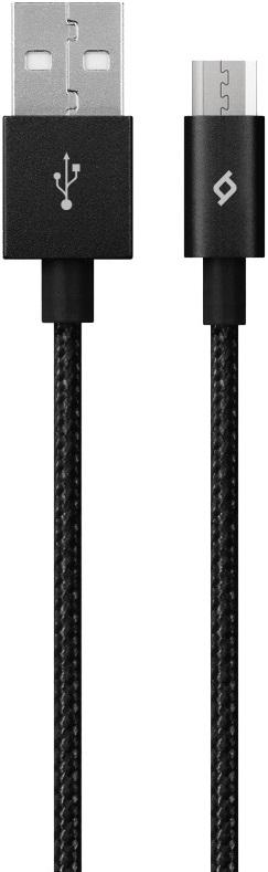 Дата-кабель Ttec USB-microUSB 1,2м премиум Black ginzzu gc 558ud black дата кабель usb 2 0 microusb 1 м