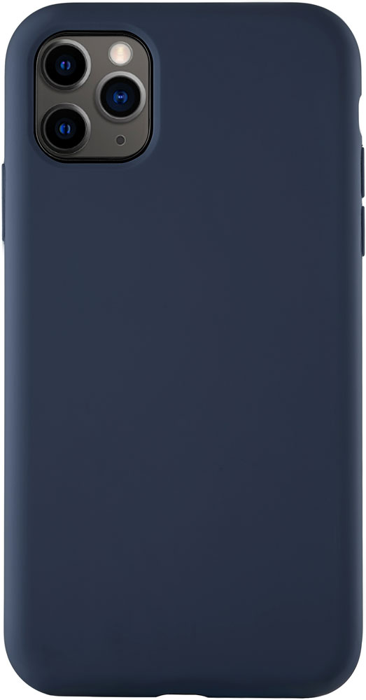 Клип-кейс uBear iPhone 11 Pro Max liquid силикон Navy фото