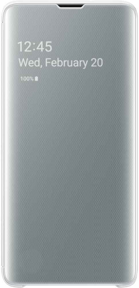 Чехол-книжка Samsung Galaxy S10 EF-ZG973C White чехол накладка samsung ef rg973c для samsung galaxy s10