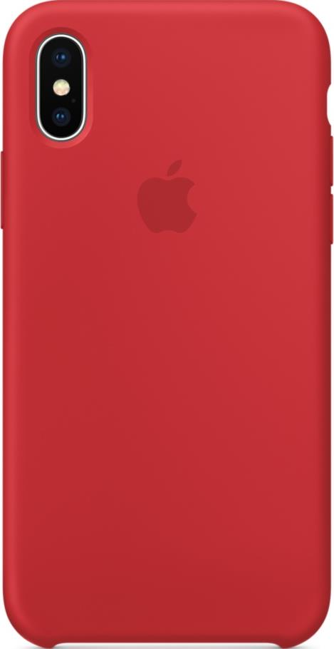 Клип-кейс Apple iPhone X силиконовый Red клип кейс gresso smart для apple iphone xr красный
