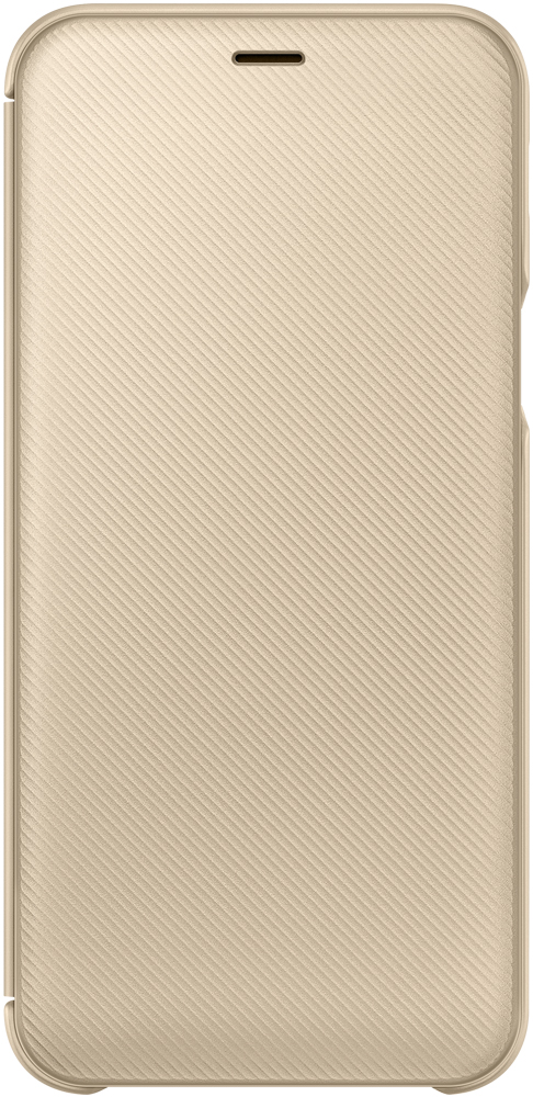 Чехол-книжка Samsung Galaxy A6 Wallet Cover Gold (EF-WA600CFEGRU) аксессуар чехол книжка samsung galaxy a6 2018 wallet cover gold ef wa600cfegru