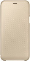 фото Чехол-книжка Samsung Galaxy A6 Wallet Cover Gold (EF-WA600CFEGRU)