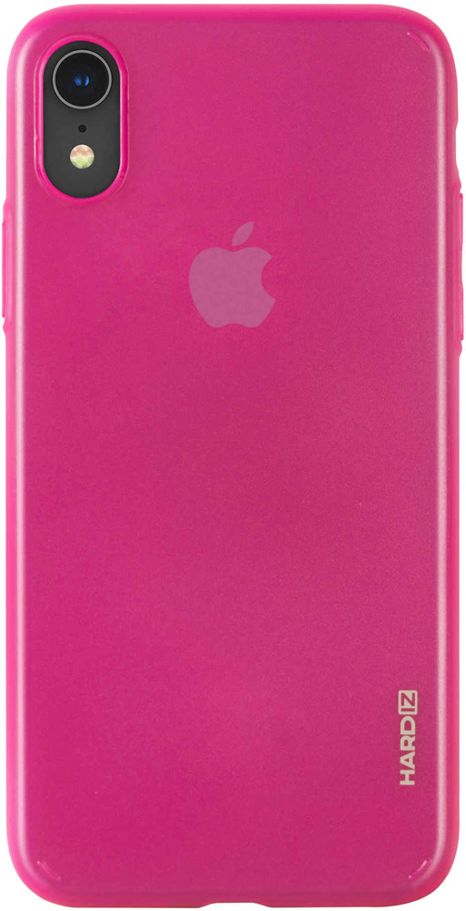 Клип-кейс Hardiz Apple iPhone XR тонкий пластик Pink аксессуар чехол для apple iphone xr hardiz glass case white hrd811700