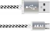 Дата-кабель Akai CE-421 W USB-micro USB двусторонний