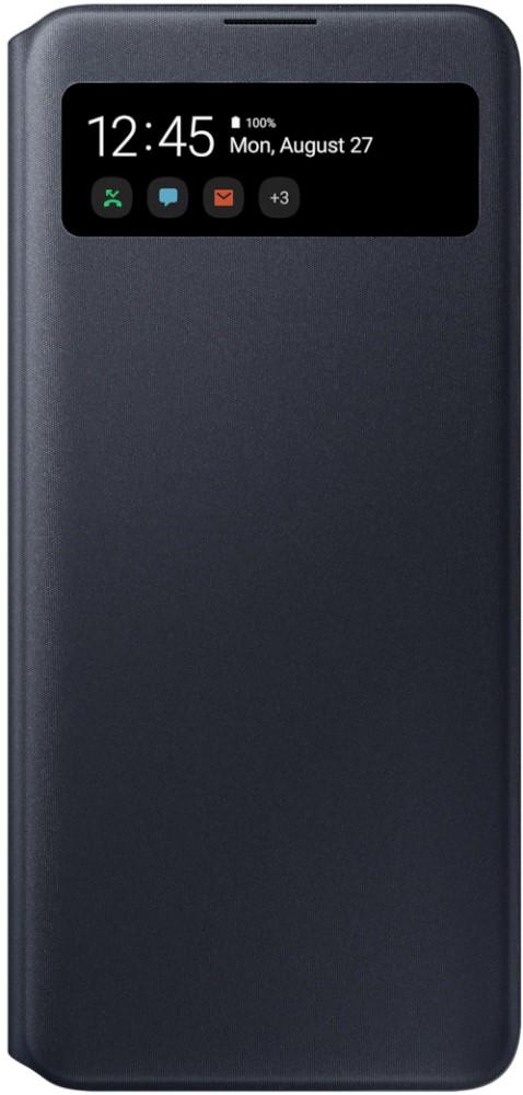 Чехол-книжка Samsung A71 S View Wallet Cover Black (EF-EA715PBEGRU) фото