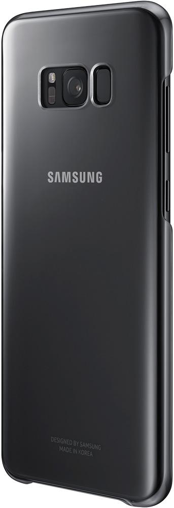 Клип-кейс Samsung Galaxy S8+ Clear Cover Black (EF-QG955CBEGRU) чехол для смартфона samsung galaxy a8 clear cover прозрачный ef qa530ctegru ef qa530ctegru