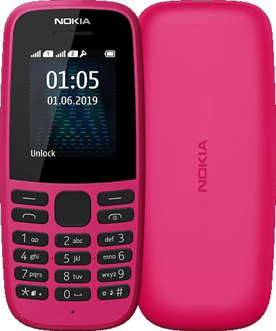 Мобильный телефон Nokia 105 2019 Dual sim Pink фото