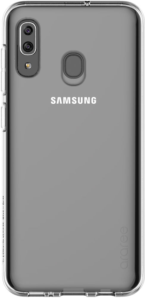 Клип-кейс Araree Samsung Galaxy A30 TPU GP-FPA305K прозрачный клип кейс deppa huawei y5 lite tpu прозрачный