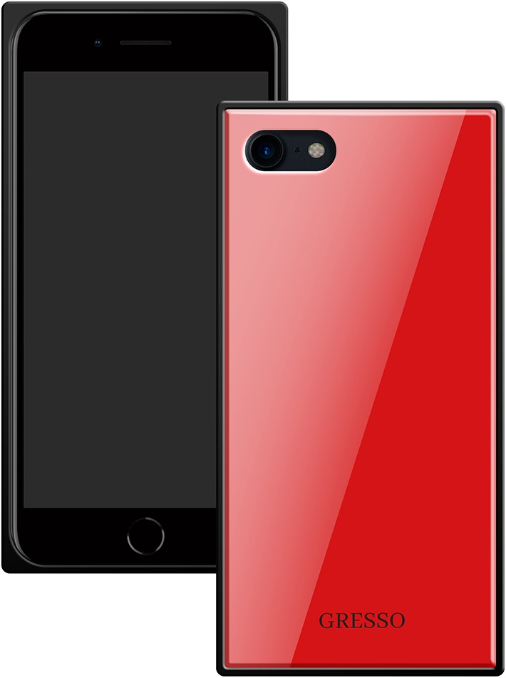 Клип-кейс Gresso Glass Apple iPhone 8/7 прямоугольный Red клип кейс gresso glass edge для apple iphone xr гуайра