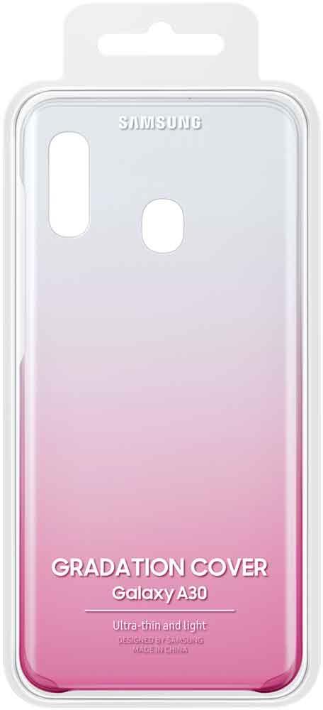 Клип-кейс Samsung Galaxy A30 градиент Pink EF-AA305CPEGRU клип кейс samsung dual layer ef pj330 для galaxy j3 2017 голубой