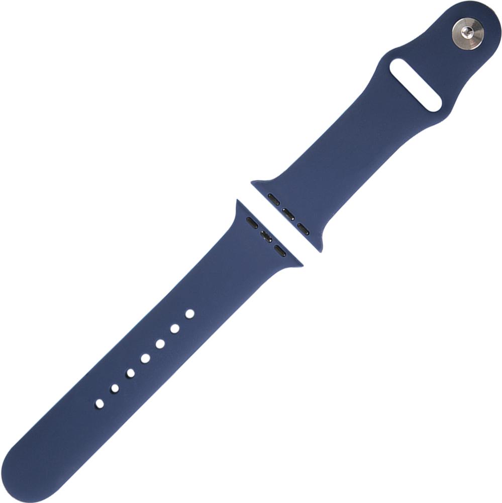 Ремешок для умных часов RedLine Apple Watch 38/40мм силиконовый Blue фото 3