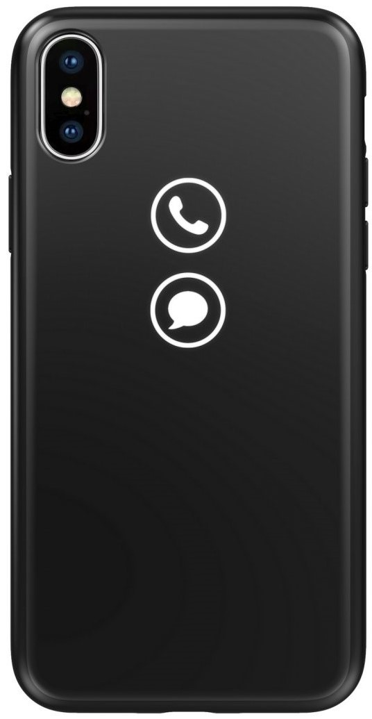 все цены на Клип-кейс Lunecase для Apple iPhone X со световой индикацией классика black онлайн