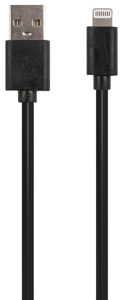Дата-кабель RedLine Lightning 20см Black фото