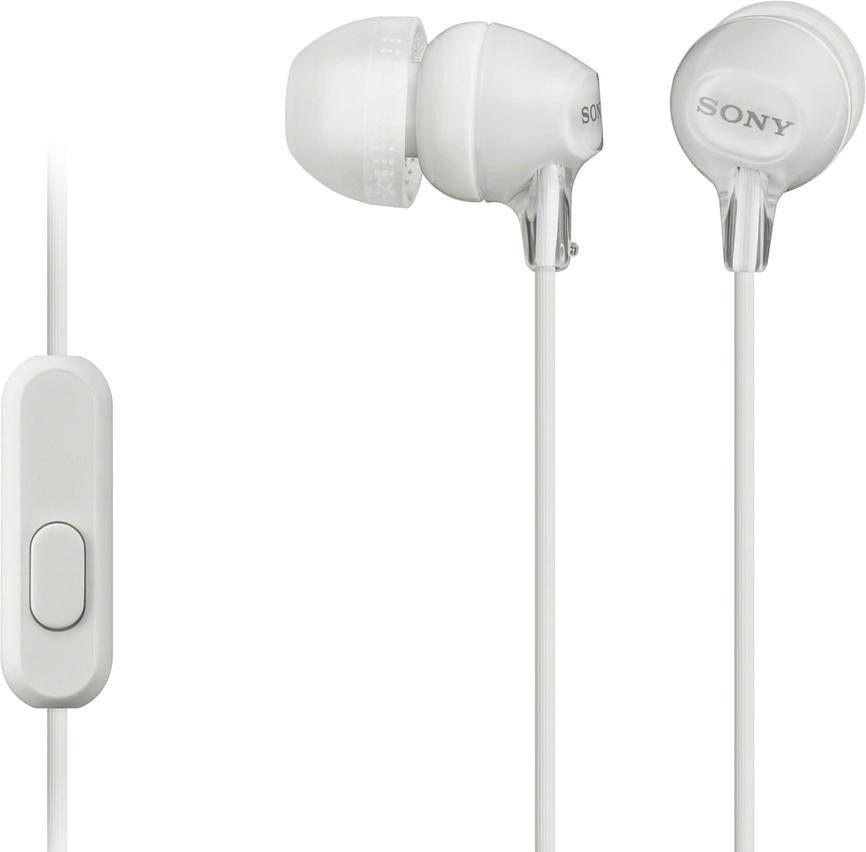 лучшая цена Наушники с микрофоном Sony MDR-EX14AP White