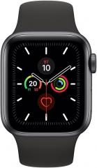 фото Часы Apple Watch Series 5 40мм серый космос+спортивный ремешок чёрный