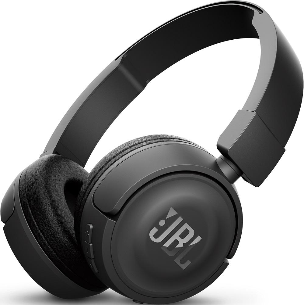Беспроводные наушники с микрофоном JBL Bluetooth T450BT накладные Black цена и фото