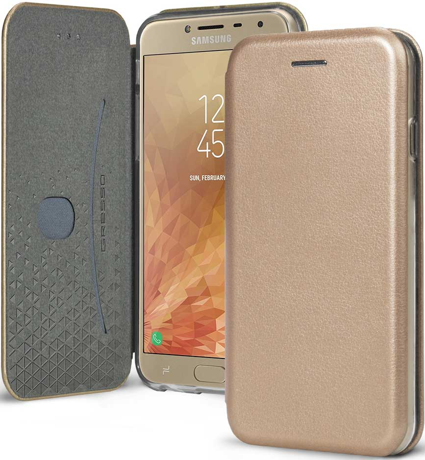 Чехол-книжка Gresso Shell Samsung Galaxy J4 Gold