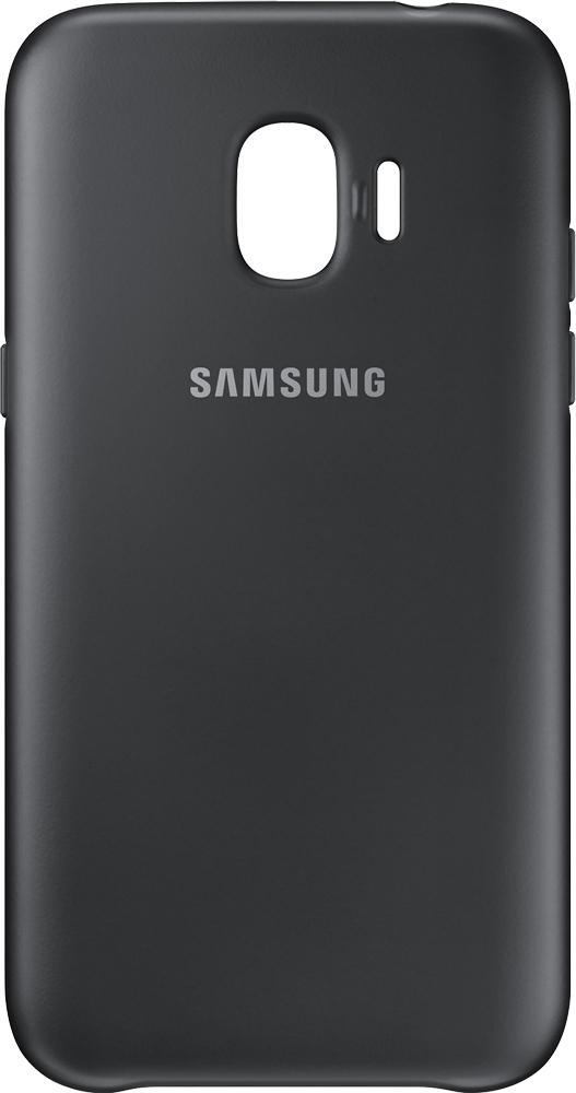 Клип-кейс Samsung Dual Layer Cover Galaxy J2 2018 Black клип кейс samsung dual layer ef pj330 для galaxy j3 2017 голубой