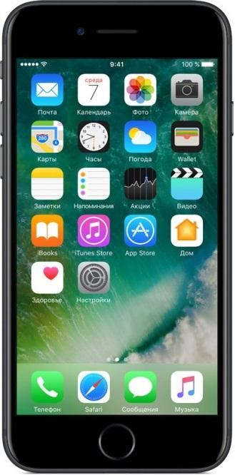 Смартфон Apple iPhone 7 32GB Black (MN8X2RU/A)