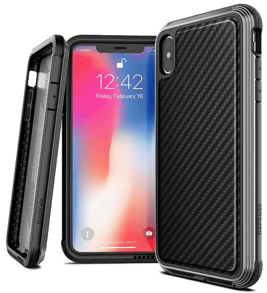 Клип-кейс X-Doria iPhone XS Max противоударный карбон Black клип кейс bmw iphone xs max силикон black