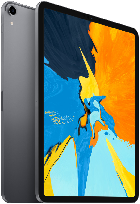 Планшет Apple iPad Pro 2018 Wi-Fi 11 256Gb Space Grey (MTXQ2RU/A) fashion 360 rotating case for ipad pro 12 9 inch litchi leather stand back cover apple fundas