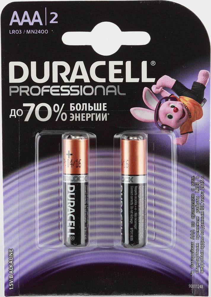 Батарея Duracell AAA Professional LR03 (BL2) фото