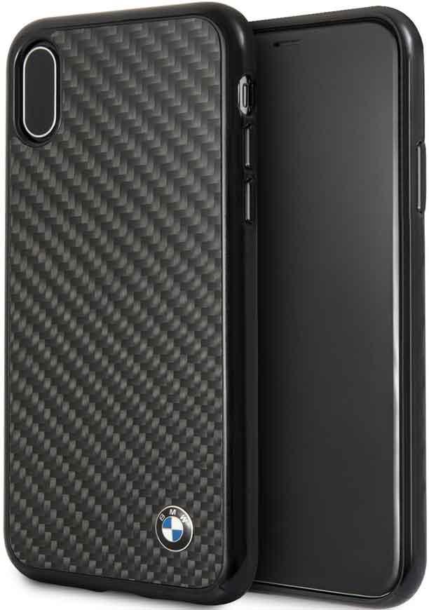Клип-кейс BMW iPhone ХS карбон black клип кейс ferrari iphone хs кожа black