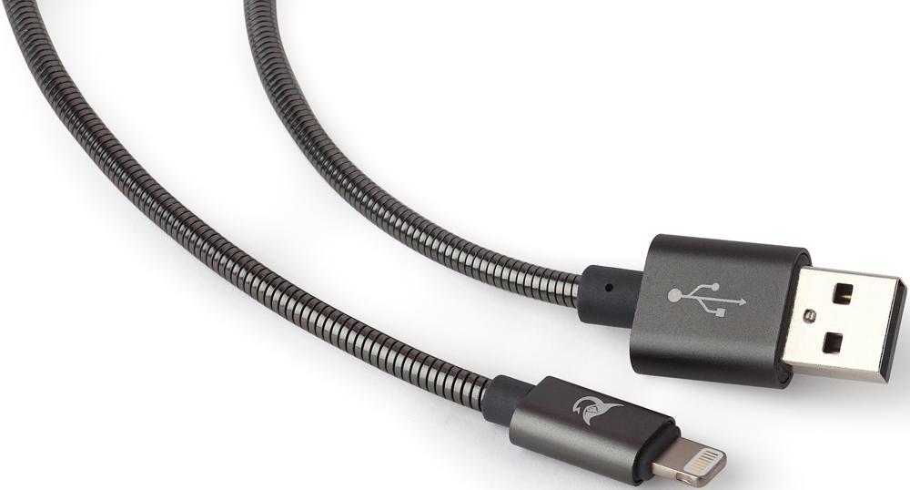 Дата-кабель Elray ALMBC12GR USB-Lightning Apple MFI 1,2м металлическая оплетка Grey аксессуар joyroom mfi braided usb lightning 120cm grey 17865