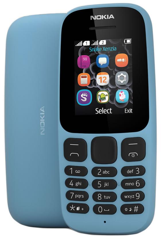 Мобильный телефон Nokia 105 2017 Dual Sim Blue мобильный телефон nokia 105 2017 dual sim black