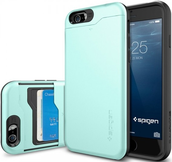 Клип-кейс Spigen CS Apple iPhone 6/6S Mint клип кейс inoi prism для apple iphone xr серебристый