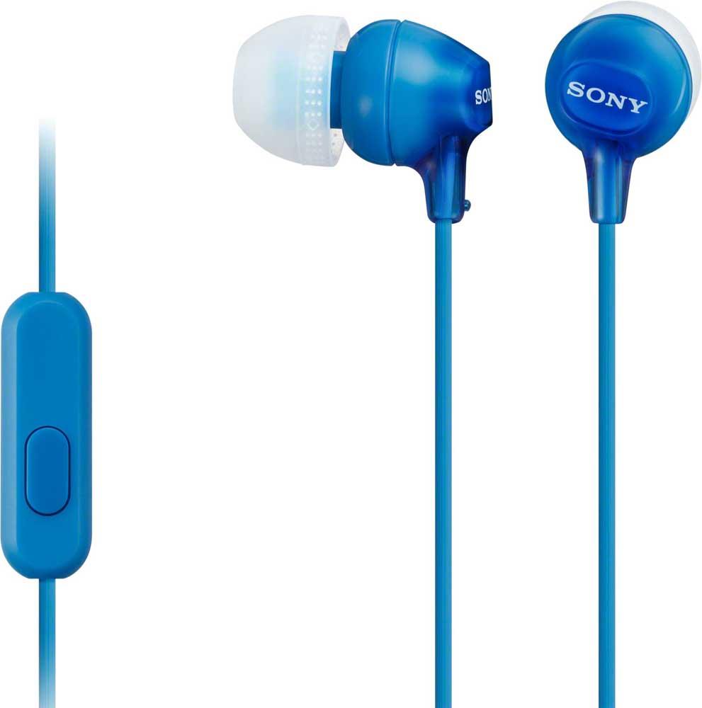 Наушники с микрофоном Sony MDR-EX14AP Blue наушники sony mdr ex15ap blue