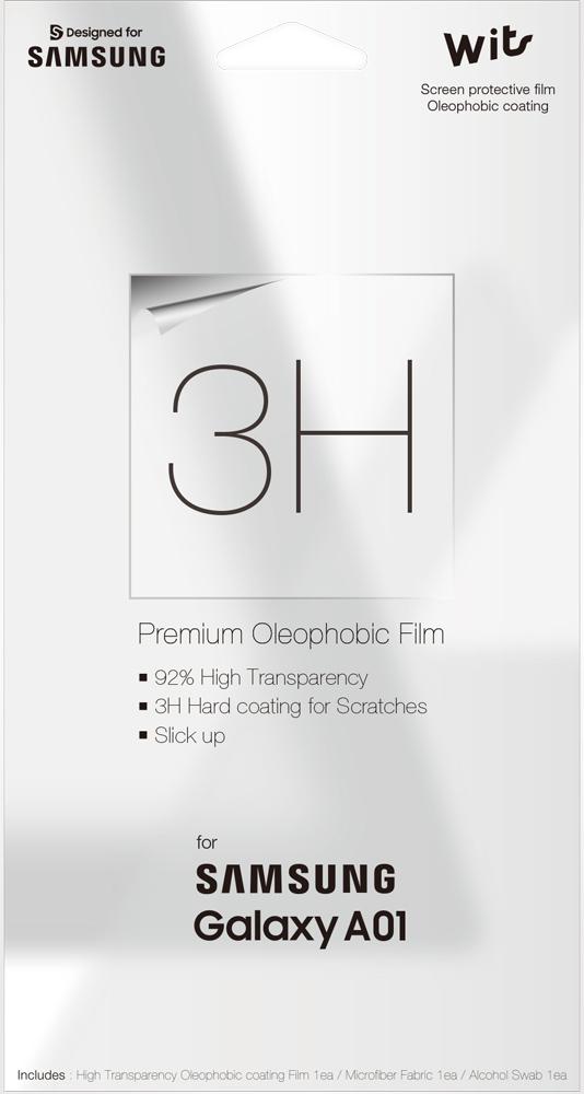 Пленка защитная WITS Samsung Galaxy A01 прозрачная (GP-TFA015WSATR) фото