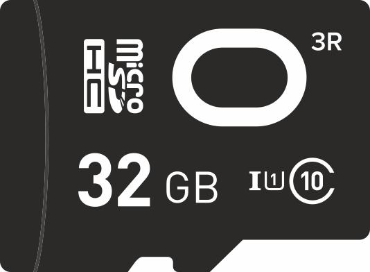 Карта памяти MicroSDHC ONE 32Gb Class10 без адаптера Black