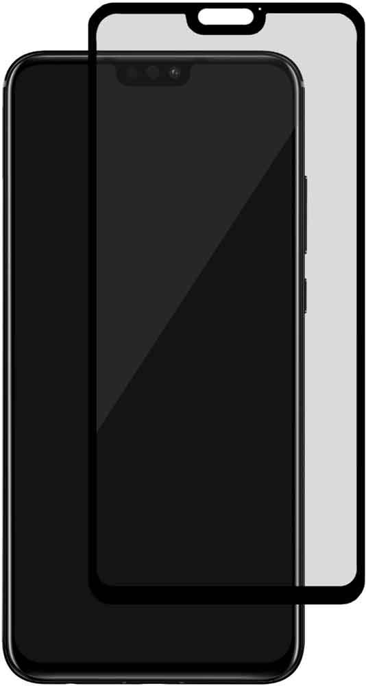 Стекло защитное uBear Honor 8X 0.2 мм черная рамка