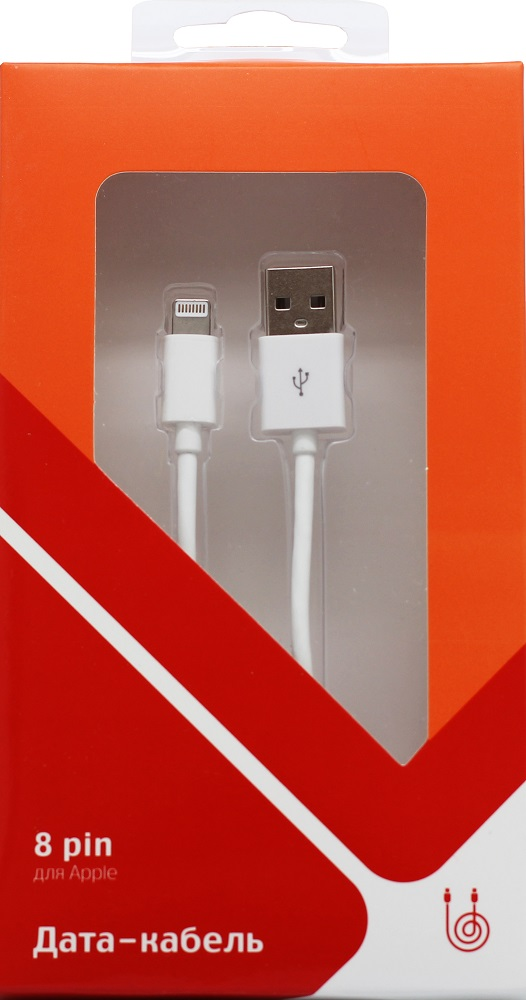 лучшая цена Дата-кабель СТМ 8 pin - USB SPT White
